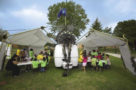 Environmental Artmaking Workshop in Western Sculpture Park