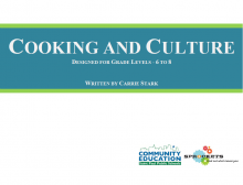 Cooking and Culture - Sprockets and SPPS Community Education OST Curriculum