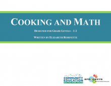 Cooking and Math - Sprockets and SPPS Community Education OST Curriculum