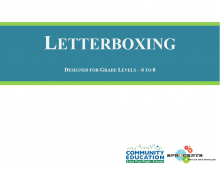 Letterboxing - Sprockets and SPPS Community Education OST Curriculum