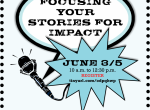 Focusing Your Stories for Impact - Sprockets Foundational Skills Workshop