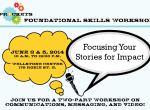 Sprockets Workshop - Focusing Your Stories for Impact